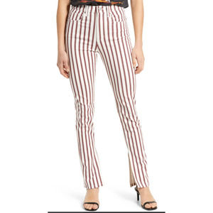 NWT WeWoreWhat Stiletto Slit Striped Pants